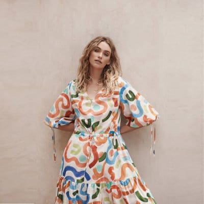 Layerd Cotton Tre Dress – Maali Print