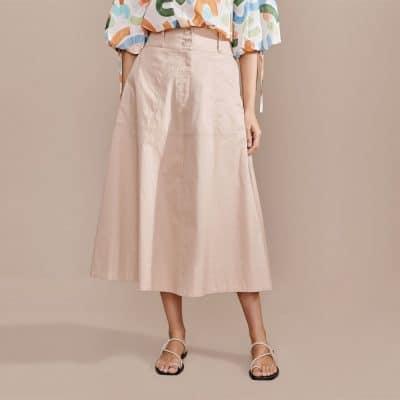 Layerd Ala Skirt – Paled Bark
