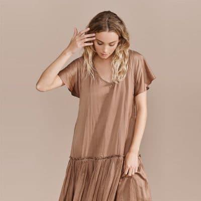 Layerd Tuli Dress – Cardamon