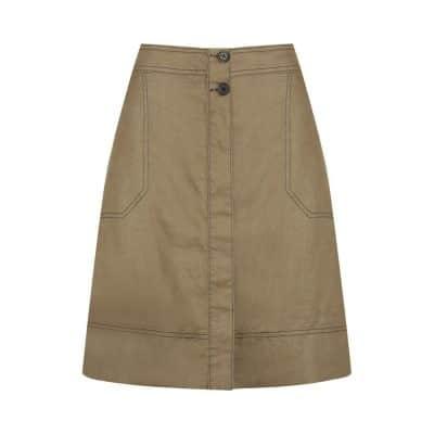 Morrison Sammy Linen Skirt Mocha