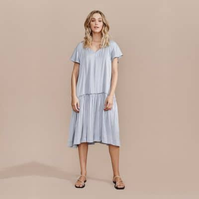 Layerd Tuli Dress – Cloud Blue