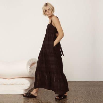 Morrison Willow Dress – Black Check